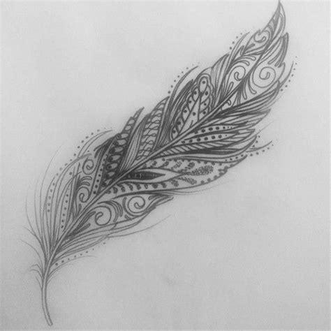 feather tattoo vorlagen tatouage plume mandala