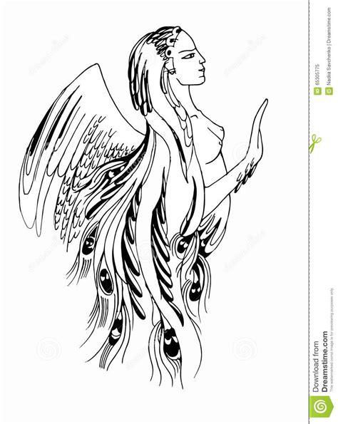 Femme Avec Des Graphiques D'ailes Illustration Stock