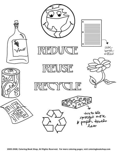 coloring pages for recycling earth day printable coloring pages placecards placemats