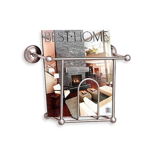 wall mount bathroom magazine rack taymor 174 wall mount magazine rack bed bath beyond