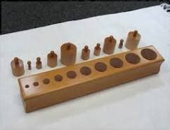 why children use knobbed cylinders forest