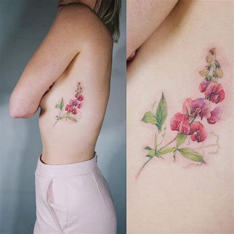 rib flower tattoo designs 25 best ideas about flower rib tattoos on rib