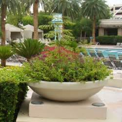 Outside Planters Resin Bora Planter Contemporary Outdoor Pots And