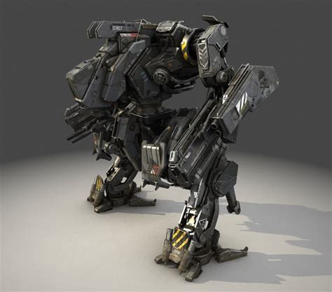 Mecha Model mech robot obj