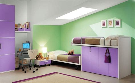 purple childrens bedrooms modern purple kids loft beds design for space saving ideas