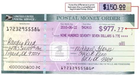 counterfeit money orders on the rise