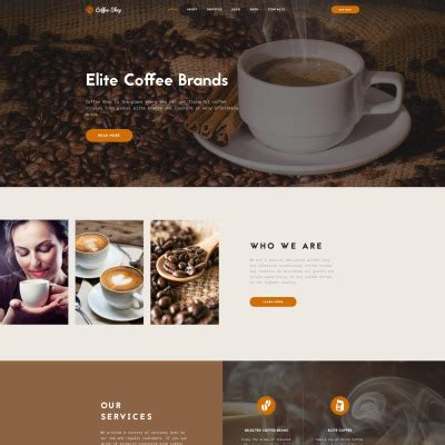 Bestselling Html Css Theme And Website Templates Of 2017 Coffee Shop Template