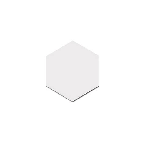 allegory hexagon white 17 5cm x 20cm wall floor tile