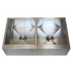 Farmhouse Stainless Steel Kitchen Sink 36 Inch Stainless Steel Flat Front Farmhouse Apron Kitchen Sink 50 50 Bowl