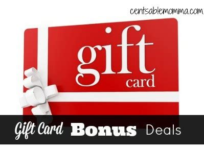 Amazon Gift Card Deals November 2017 - restaurant 2017 bonus gift card offers centsable momma