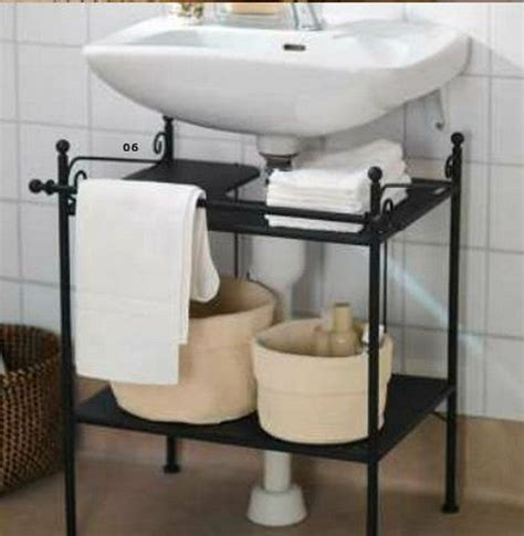 under sink storage ideas bathroom ronnskar sink shelf this ronnskar shelf from ikea is