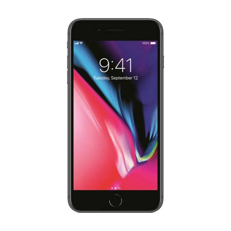 apple iphone 8 plus 64gb 4g lte space gray with facetime itshop ae