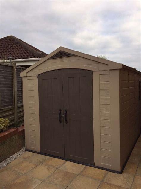 keter fortis  plastic storage garden shed