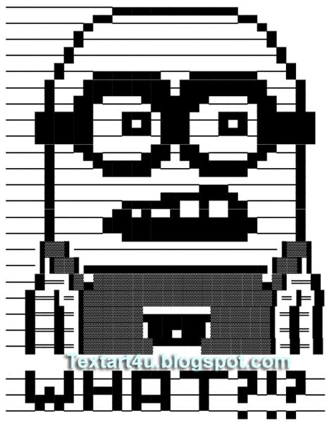 minion text art despicable character cool