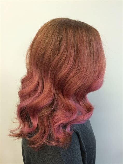 rose gold hair pravana gold hair pravana pravana rose gold on instagram copper