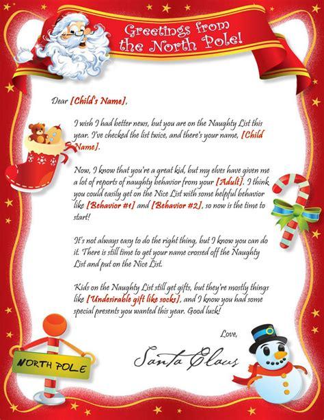 printable santa naughty letter santa s naughty letter template