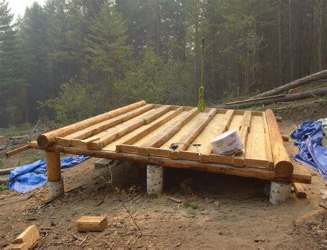 log cabin build grid log cabin build floor construction