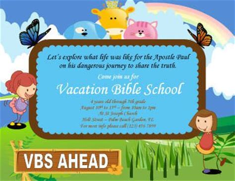 sle of vbs certificate vacation bible school flyer template marketing flyers church