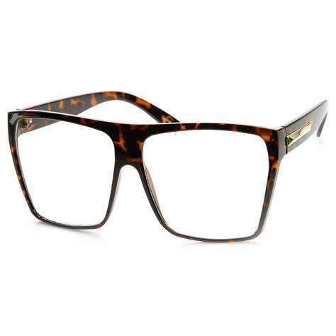 Square Lens Glasses large oversized retro fashion clear lens square glasses ebay