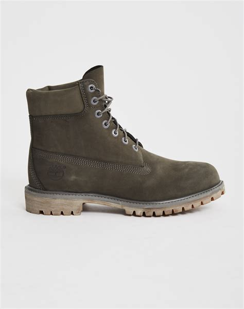 timberland boots grey timberland icon 6 quot premium boot grey in gray for lyst