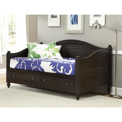 day bed with storage bermuda wood daybed with storage in espresso finish 5542 85