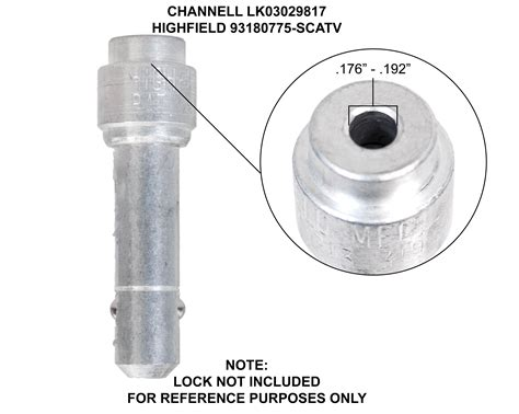 jonard tools ttb  barrel lock plunger key