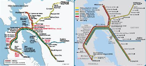 san francisco map showing bart stations bart san francisco map stations