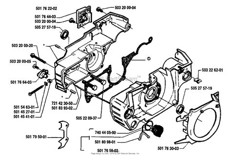 husqvarna 55 rancher parts diagram husqvarna 55 1990 01 parts diagram for crankcase
