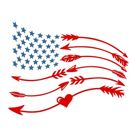design art usa american flag svg cuttable frames