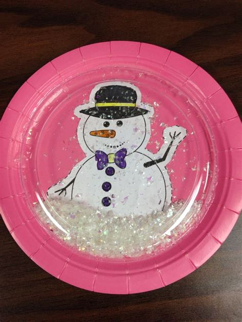 How To Make Paper Plates - paper plate snow globe paper plate crafts