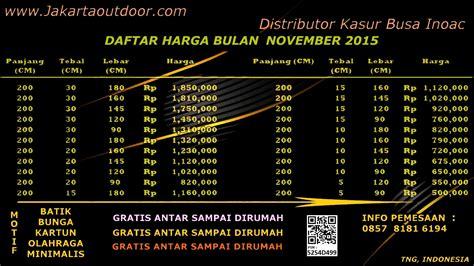Kasur Inoac Wilayah Tangerang distributor resmi kasur busa inoac november 2015