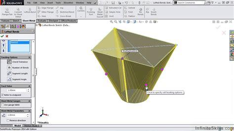 lofted sheet metal solidworks solidworks sheet metal tutorial lofted bends