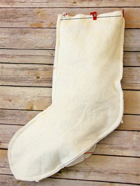 sew christmas stocking with lining how to make a pretty ruffle stocking how tos diy