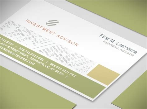 financial business card template document moved