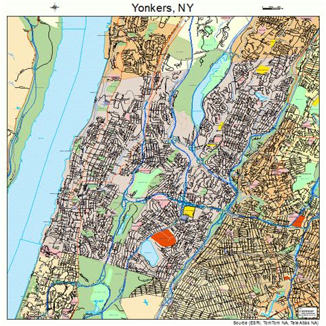 yonkers ny yonkers new york map 3684000
