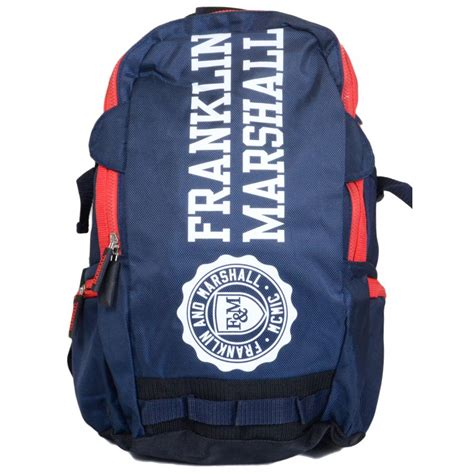 Printed Zip Backpack franklin marshall 9064 zip printed navy backpack