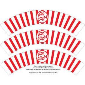 Popcorn cupcakes wrappers template ritalin relax pixnet
