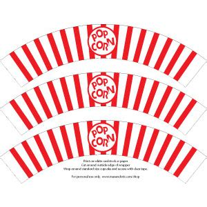 popcorn wrapper template free pin popcorn cupcake wrappers template on