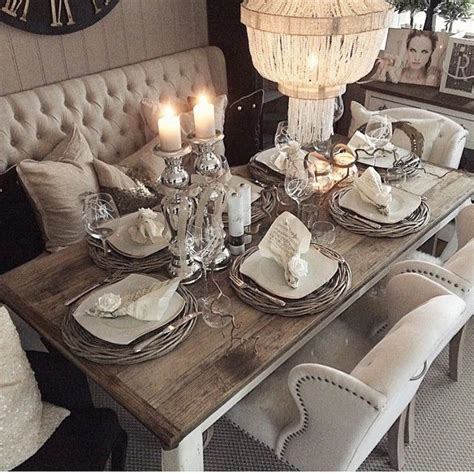 rustic glam home decor 25 best ideas about dining table decorations on pinterest