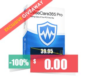 Wise Care 365 Pro Giveaway - 100 discount wise care 365 pro 1 year subscription 3 pcs coupon code september