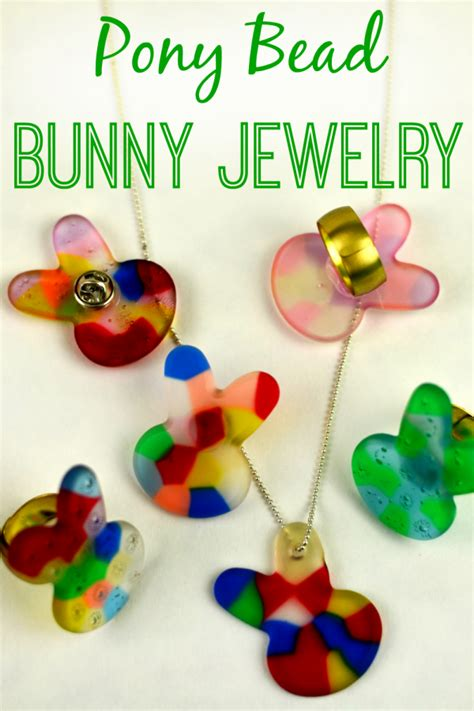 melting pony melted pony bead bunny jewelry as the bunny hops 174