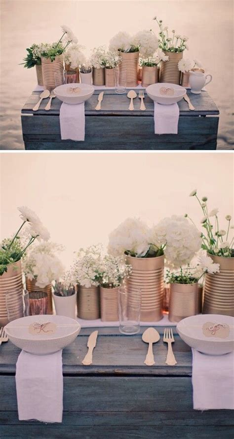 25  best ideas about Tin can centerpieces on Pinterest