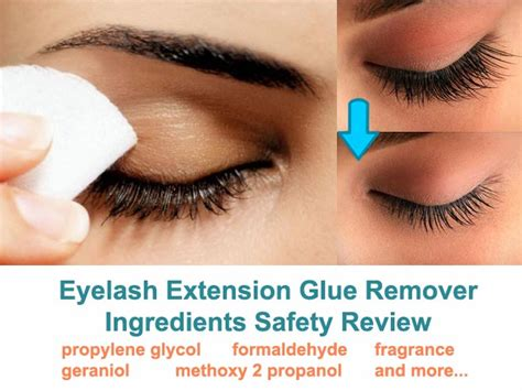 eyelash extension glue remover ingredients safety review