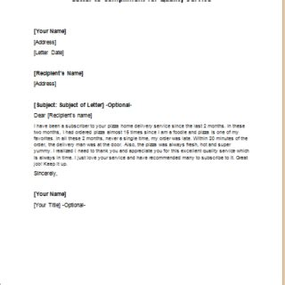 Quality Service Letter Formal Official And Professional Letter Templates Part 8