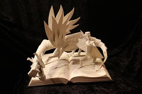 Make Paper Sculpture - artist gives books a second by sculptures