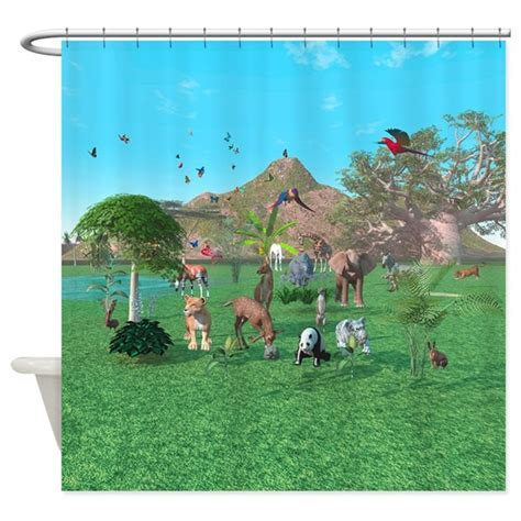 Wilde Shower by An Animal Shower Curtain By Designcadeautje