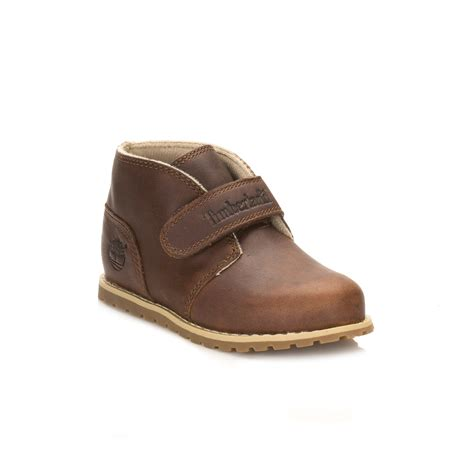 Timberland Leather Unisex timberland unisex toddlers brown chukka boots leather hook loop shoes ebay