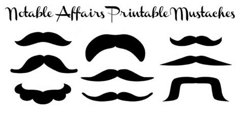 15 printable mustache templates and photo booth props printable mustaches great for weddings parties showers