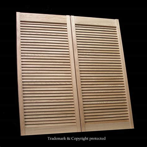 louvered swinging doors oak cafe doors restaurant 2 0 louver 24 quot ft swinging