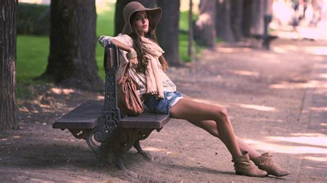 girls bench download 1920x1080 hd wallpaper girl park bench hat